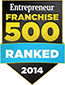 Enterpreneur Franchise 500 Ranked 2014
